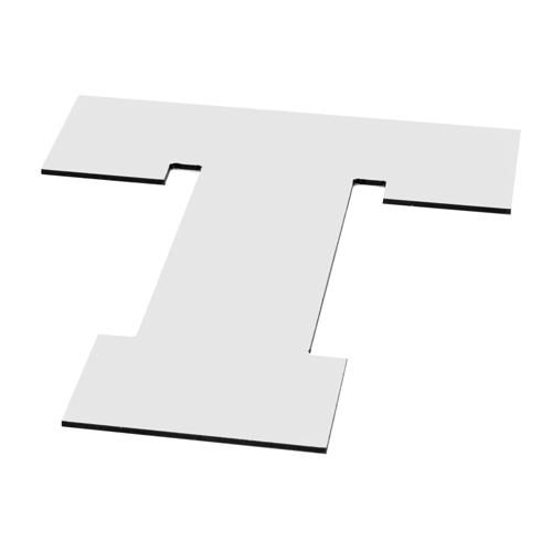 Lettre découpé Alu dibond gris alu 3mm - Matériaux de découpe numérique